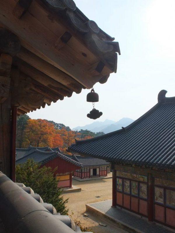 Vue sur les toits du temple de Haeinsa.